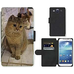 Super Stella Cell Phone Card Slot PU Leather Wallet Case // M00107188 British Shorthair Cat Pet Animals // Samsung Galaxy S3 S III SIII i9300