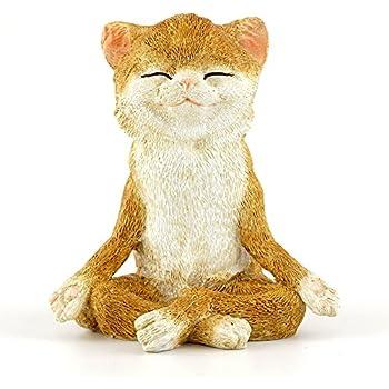 Top Collection 4410 Fairy Garden & Terrarium Cat in Meditation Statue, Small