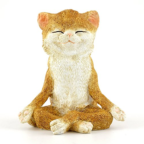 Top Collection 4410 Fairy Garden & Terrarium Cat in Meditati