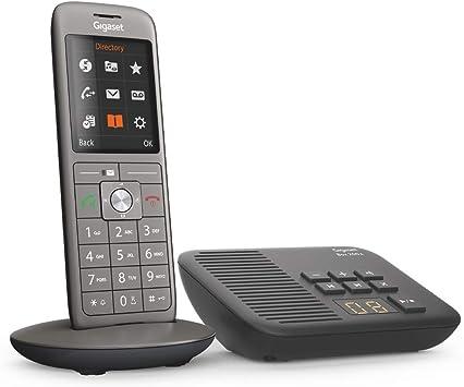 Gigaset CL660A - Teléfono (Teléfono DECT, Terminal inalámbrico, Altavoz, 400 entradas, Antracita, Negro): Amazon.es: Electrónica