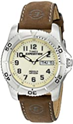 Timex Men's Brown Watch With Cream Dial