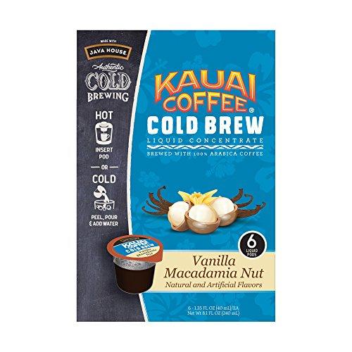 Kauai Coffee Vanilla Macadamia Nut Cold Brew Pods 6 Ct (Pack of 2) ()