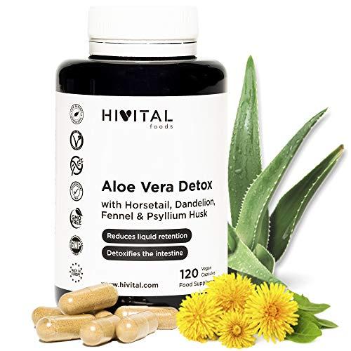 🥇 Aloe Vera Detox | 120 cápsulas para 4 meses | Con Cola de Caballo