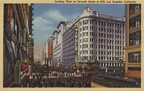 Los Angeles, CA - View of Warner Bros. on 7th St. (24x36 SIGNED Print Master Giclee Print w/ Certificate of Authenticity - Wall Decor Travel - Ca Los St 7th Angeles