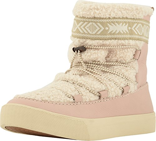 TOMS Women's Alpine Water-Resistant Boot Dark Blush Leather/Faux Shearling 9.5 B US -
