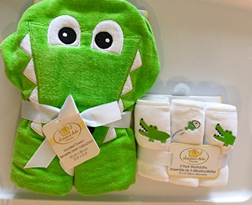 Designer Bebe Green Gator and Fish Bath Gift ()