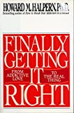 img - for Finally Getting It Right book / textbook / text book