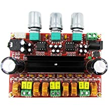 Digital Power Audio Stereo Amplifier Board 2.1 Channel, Covvy DC 12-24V TPA3116D2 2x50W+100W AMP Module for Audio System DIY Speakers