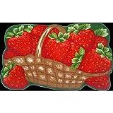Daniel's Bath & Byound Strawberries Kitchen Fruit Mat Rug
