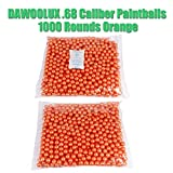DAWOOLUX .68 Caliber Paintballs 1000 Rounds Orange Color