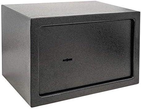 PrimeMatik - Caja Fuerte de Seguridad de Acero y con Llaves 31 x 20 x 20 cm Negra: Amazon.es: Electrónica
