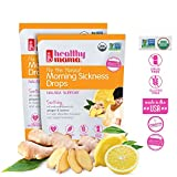 Healthy Mama Morning Sickness Relief Drops Nip the Nausea (2-Pack) Ginger Lemon. OB/GYN Recommended Relief from Morning Sickness, Nausea & Constipation