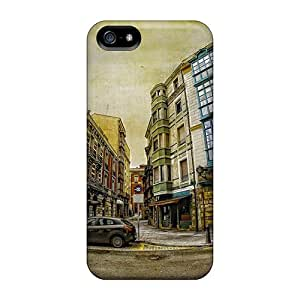 SPM15077zlmS Cases Covers Fantastic Townscape In Fish Eye Hdr Iphone 5/5s Protective Cases