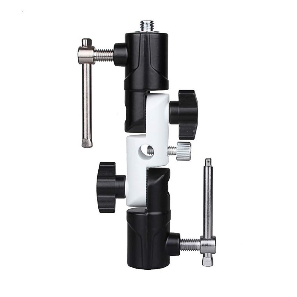 SUPON 3-section U-shape Type Swivel Flash Bracket for Umbrella Holder Light Stand Adapter Nikon and Canon Speedlight