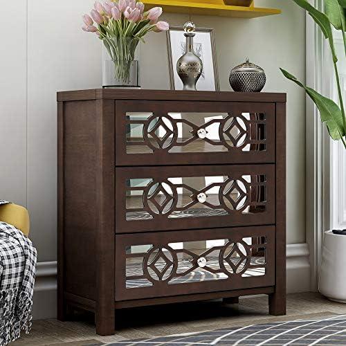 Nightstand Wood Storage Cabinet Storage Unit