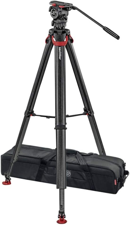 Sachtler System FSB 6 FT Sideload Fluid Head with Flowtech 75 Carbon Fiber Tripod & Mid Level Spreader
