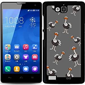 Funda para Huawei Honor 3C - Un Feliz Avestruz by zorg