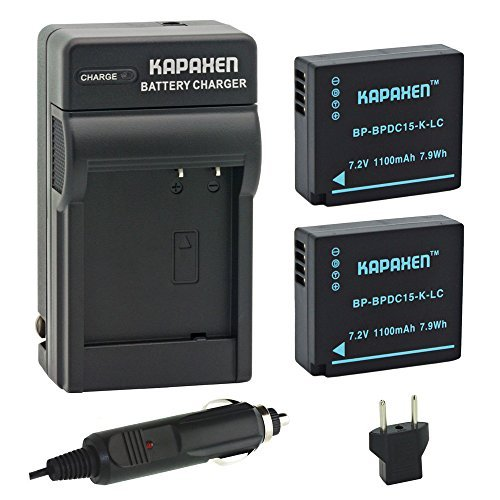 Kapaxen Two High Capacity BP-DC15 Batteries & Charger Kit for Leica D-Lux (Type 109) Cameras by KAPAXEN (Image #5)