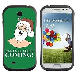 Hybrid Anti-Shock Bumper Case for Samsung Galaxy S4 / Santa Claus Is Coming