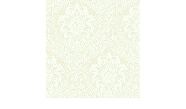 Traditional Wallpaper in High End Victorian Damask Style in Nude and Cream Tones