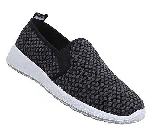 Damen-Schuhe Slipper | stilvolle Halbschuhe in verschiedenen Farben und Größen | Schuhcity24 | Freizeitschuhe in gepunkteter Optik Schwarz