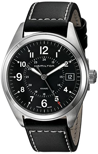 Hamilton Men's H68551733 Khaki Field Analog Display Quartz Black Watch