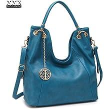 MMK collection Women Fashion Shoulder Backpack (6331)~Designer Purse Hobo bag for Women ~Multi Pocket Backpack~ Beautiful Designer Shoulder bag