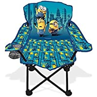 Universal Despicable Me Minions Fold N Go Kids Chair w/ Cup Holder & Carry Bag