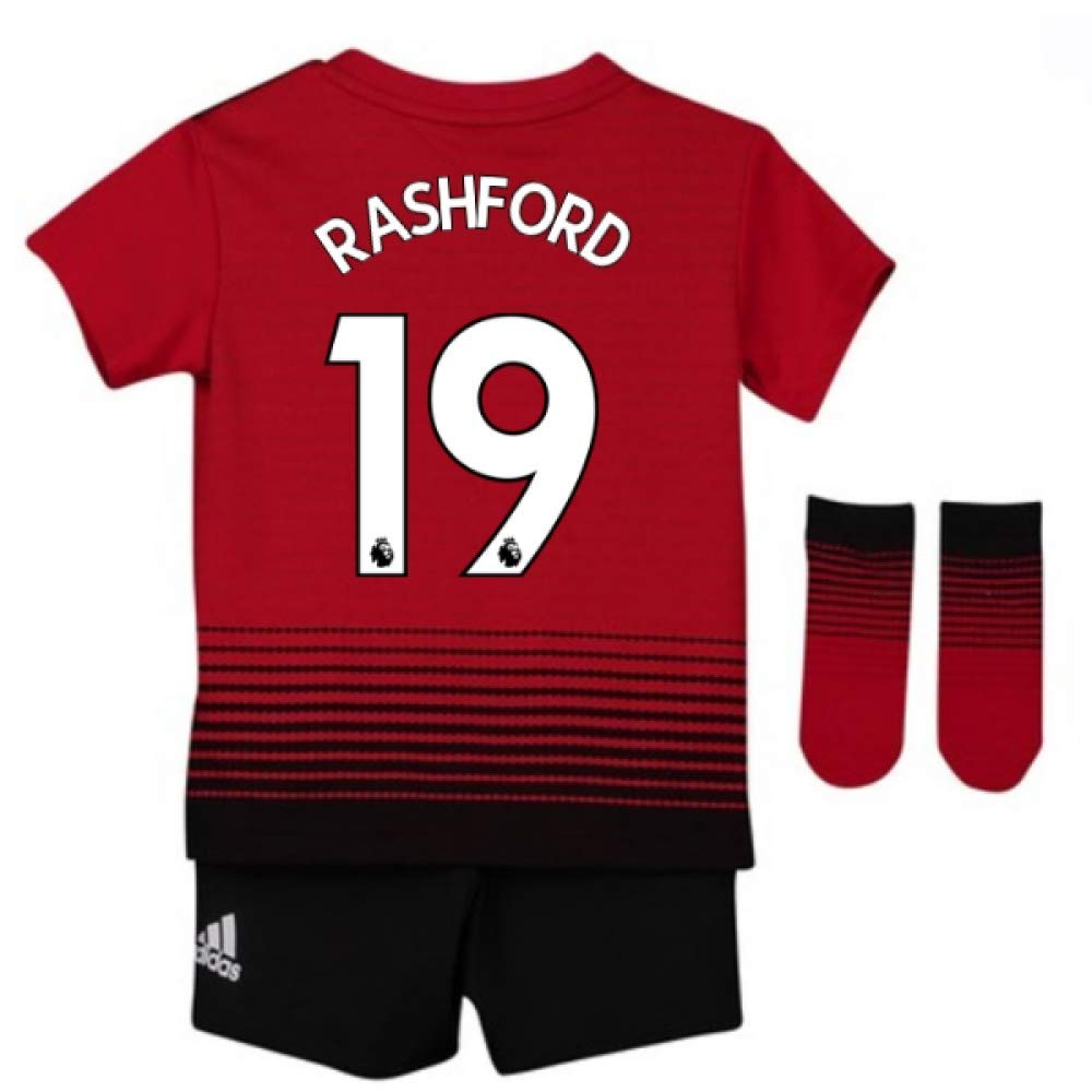2018 2019 Man Utd Adidas Home Baby Kit Rashford 19