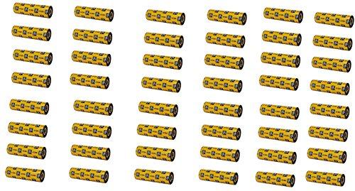 Zebra 06100GS11007 Ribbon, 110MMX74M 6100 Wax/Resin, 0.5