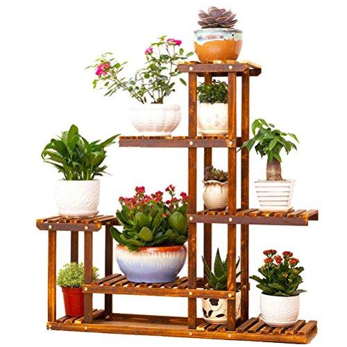 5 Tier Pot Plant Flower Herb Wooden Stand Bench Shelf Rac...