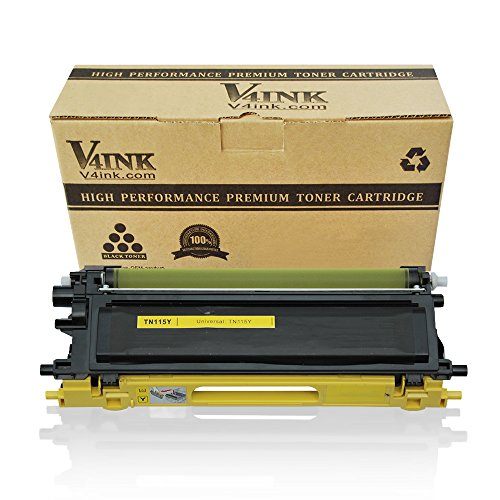 V4INK ® Compatible Toner Cartridge Replacement for Brother TN115 TN110 TN-115Y TN-110 High Yield Yellow