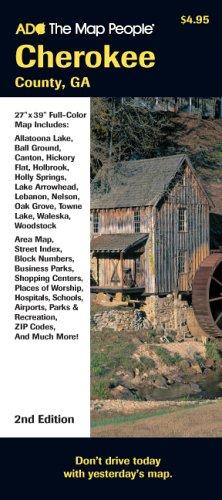 Cherokee County Zip Code Map.Cherokee County Ga Map Adc The Map People 9780875307336 Amazon