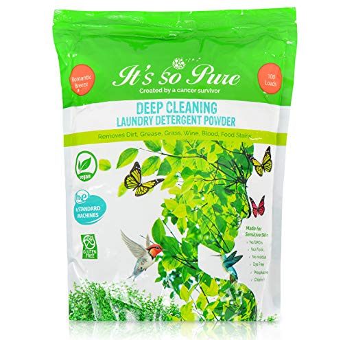 It's So Pure Natural Scented Laundry Powder - Best Scent Smelling Detergent for Clothes, Eco-Friendly Biodegradable Washing Powder, Baby Soft Kids Laundry Detergent Powder for Sensitive Skin 100 Loads Deep Cleaning Laundry Detergent