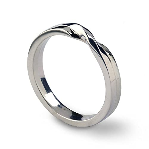 Amazon Com 14k White Gold His Hers Love Knot Wedding Band Ring