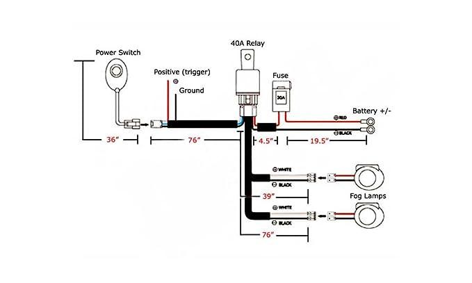 amazon com ijdmtoy 1 h11 h8 relay harness wire kit with led light rh amazon com Basic Light Wiring Diagrams Basic Light Wiring Diagrams