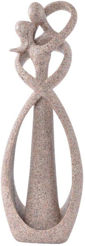 Kissing Hug Lover Figurines Home Decor,9 Inch Couple Sandstone Statue Sculpture Wedding Decoration Anniversary Desktop Bookshelf Decor Handmade Craft Carved Art Abstract Modern Valentine's Gift