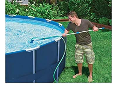 Cleaning Maintenance Swimming Pool Kit w/Vacuum Skimmer & Pole | 28002E