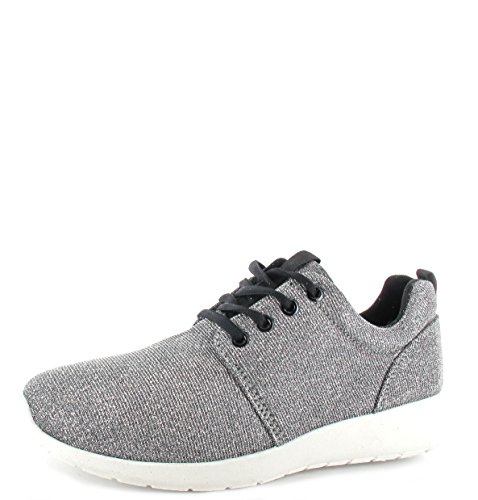 New Herren/Damen Running Turnschuhe Glitzer Unisex Fitness Gym Sport Lace up Schuhe Größen 8