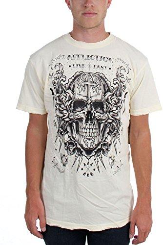 Dirty White Décomposer Pour shirt Affliction T Hommes qnZw7wXF