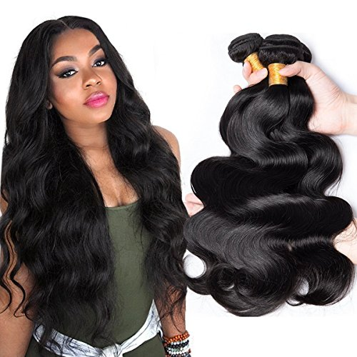 CLAROLAIR Brazilian Virgin Hair Body Wave 100% Virgin Unprocessed Human Hair Weave Hair Extension Vigin Brazilian Hair Body WaveveNatural Color (100+/-5g)/pc 18 20 22 inch from CLAROLAIR