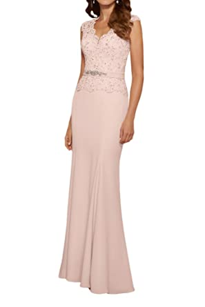 La Mariee Fantastic Sheath Beading Formal Evening Dresses with Waist-2-Pink