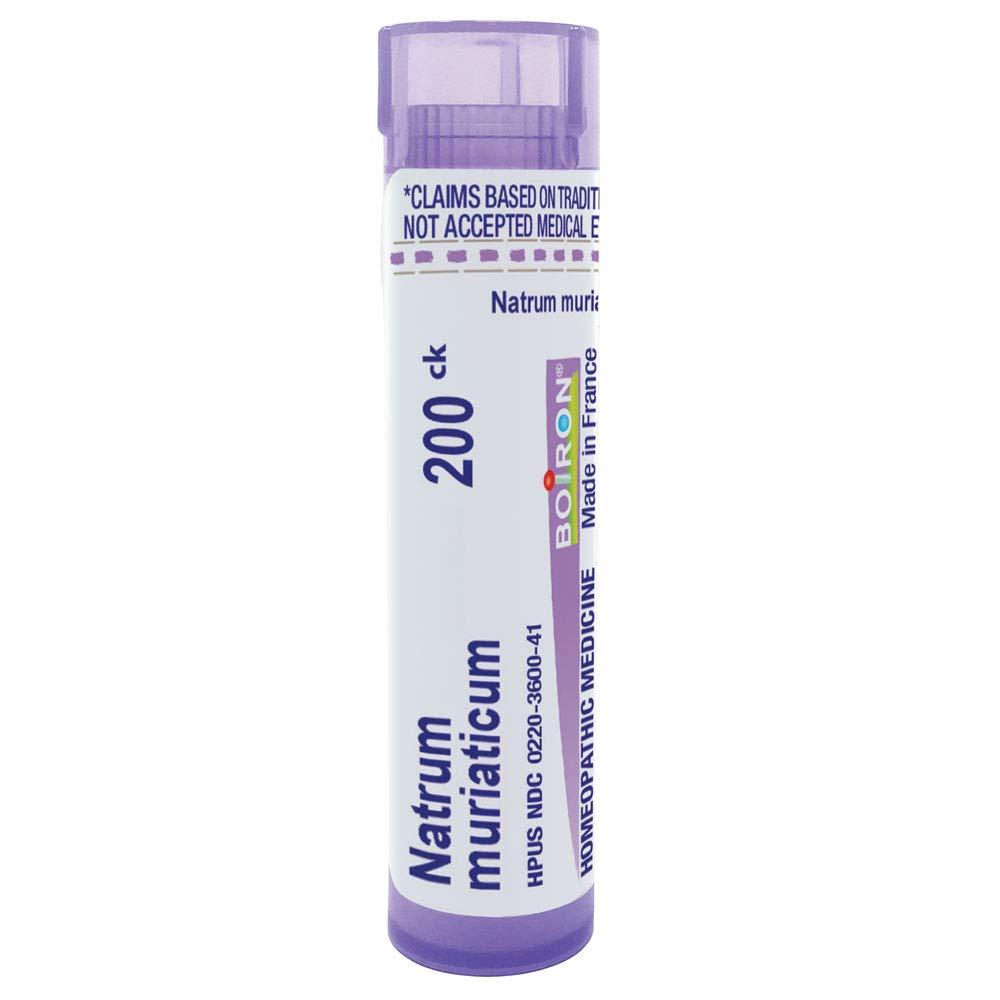 Boiron Natrum Muriaticum 200Ck, 80 Pellets, Homeopathic Medicine for Runny Nose