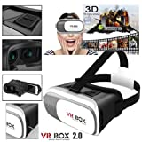 Fleejost VR Box 2.0 Virtual Reality 3D Glasses, 3D VR Headsets for 4.7~6 Inch Screen Phones iPhone 4S, iPhone 5s, iPhone 6/6 S, Samsung LG Sony HTC, Nexus 6 etc.