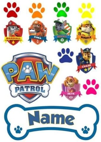 Paw Patrol Ensemble De Decoration De Gateau A Glacage Comestible