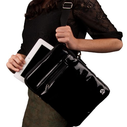- Quality Modern Messenger Style, Black Vangoddy Select 10 Inch Patent Leather Hydei Clutch Sleeve Cover for All Models of the ASUS VivoTab 10.1 Inch Tablet (Vivo Tab Rt, Smart, TF600t)