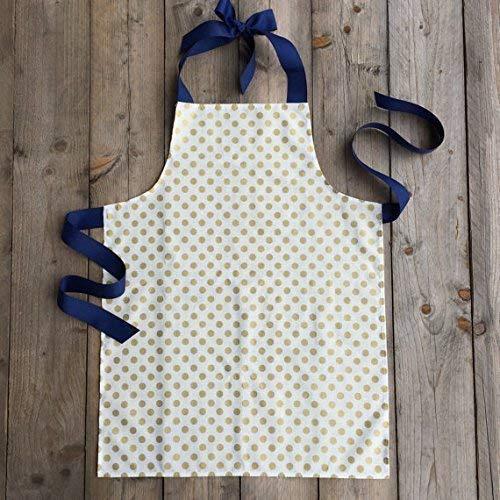 Metallic Gold Polka Dot Art Craft Kitchen Apron Gift for Girls from Sara Sews