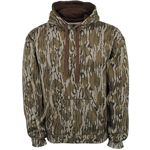 Mossy Oak Hunting Clothes - Mossy Oak Men's Vintage Hoodie Pullover, Original Bottomland, Large