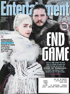 Seasons Weekly - Entertainment Weekly Magazine (November 9, 2018) End Game The Final Season of Game of Thrones
