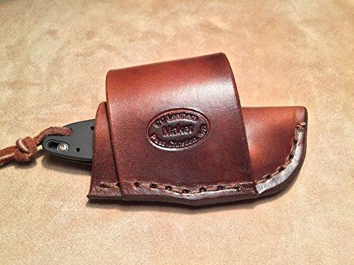 Custom Leather Crossdraw Sheath for Kershaw Ken Onion Leek - Kershaw Leather Sheath